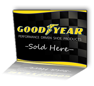 Goodyear counter mat artwork: Goodyear Sold Here.